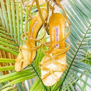 Walter Steiger vintage yellow sexy strappy sandals